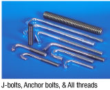J Bolts, Anchor Bolts & All Threads