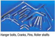 Hanger Bolts, Cranks, Pins, Roller Shafts